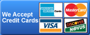 Locksmith Apopka accepts all major credit cards
